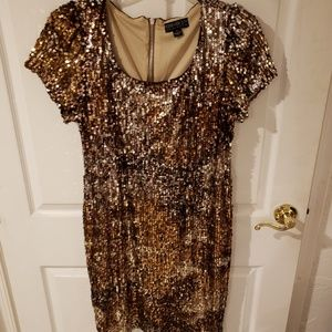 Forever 21-  1X Multi colored sequence mini dress